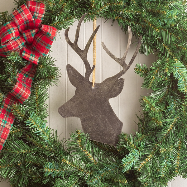 CTW Home Collection Metal Reindeer Christmas Ornaments (Box of 4)