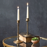 CTW Home Collection Set of Two Brass Finish Taper Candle Holders