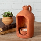 CTW Home Collection Small Jug-Shape Terra Cotta Tealight Candle Holder