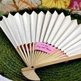 Elegant White Paper Fan Spring or Summer Favor