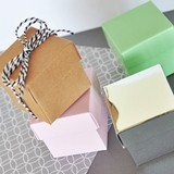 Event Blossom DIY Miniature Cube Favor Boxes (Set of 12)