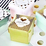 Personalized Metallic Foil Favor Mini Cube Boxes (Set of 12)