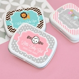 Adorable Personalized Mint Tins for Baby Shower