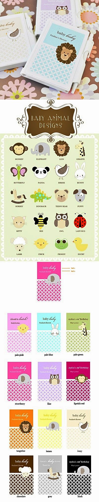Darling Baby Animal-Themed Personalized Notebooks