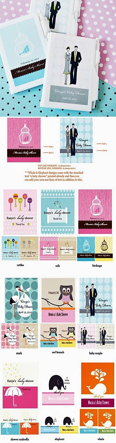 Artistic Design Personalized Baby Shower Notebooks