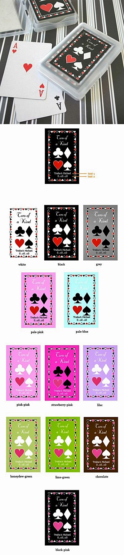 Playful Deck of Playing Cards with Personalized Case