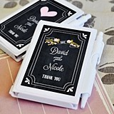 Chalkboard Wedding Personalized Notebooks