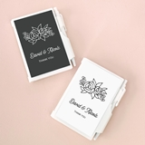 Event Blossom Personalized Notebooks with Floral Silhouette Designs