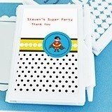 Super Hero Boy Birthday Design Personalized Notebooks