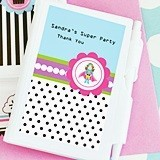 Super Hero Girl Birthday Design Personalized Notebooks