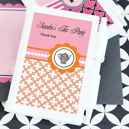 Tea Party Design Personalized Notebooks