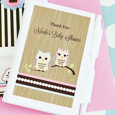 Woodland Owls Design Personalized Notebooks