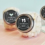 Chalkboard Wedding Personalized Candy Jars