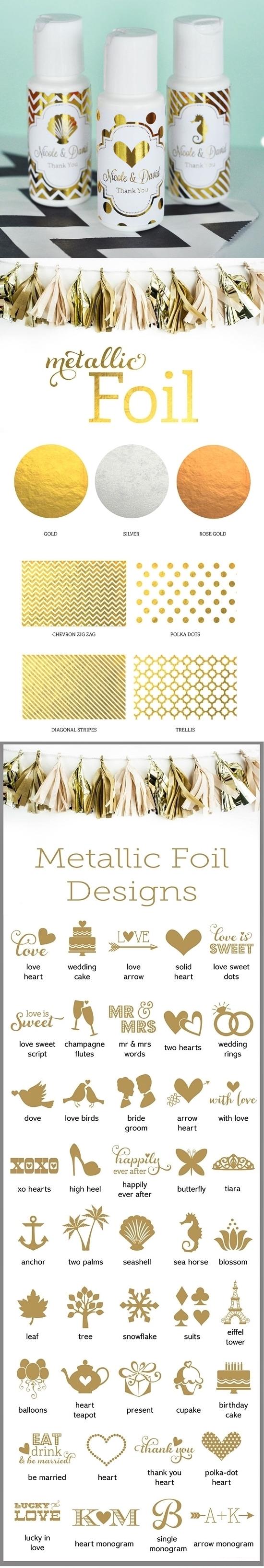 Event Blossom Personalized Metallic Foil Sunscreen Bottles (Wedding)
