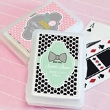 Darling Baby Shower Personalized Playing Cards