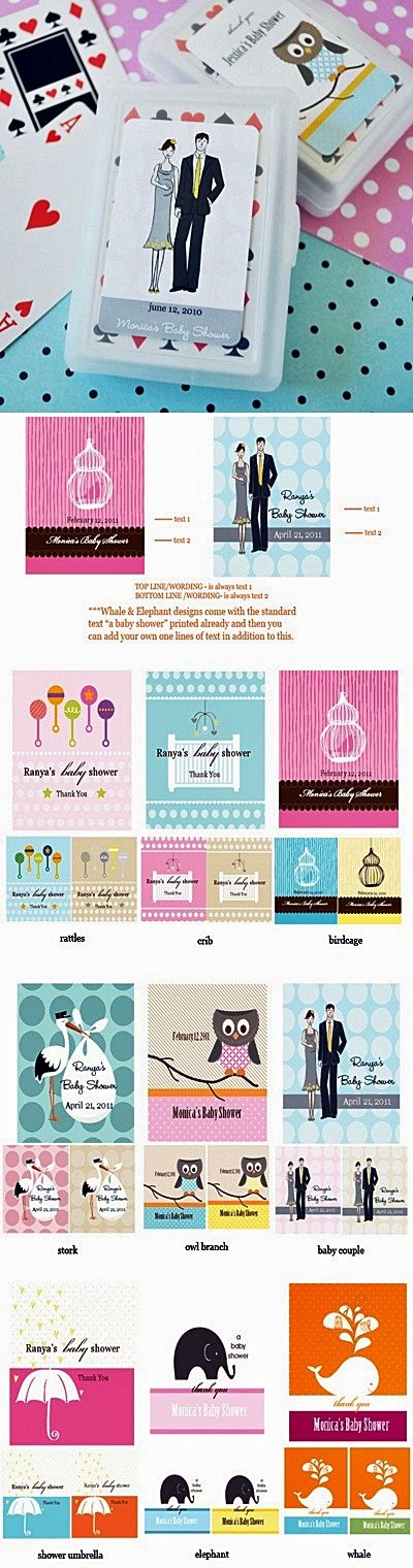 Artistic Design Baby Shower Personalized Playing Cards