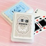 Vintage Personalized Baby Shower Playing Cards