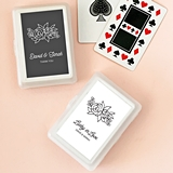 Event Blossom Personalized Floral Silhouette Design Playing Cards