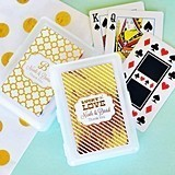 Event Blossom Personalized Metallic Foil Playing Cards
