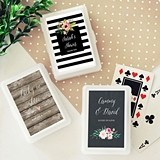 Event Blossom Personalized Playing Cards with Floral Garden Designs