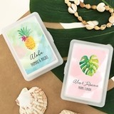 Event Blossom Personalized Playing Cards with Tropical Beach Designs