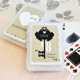Event Blossom Personalized Playing Cards with Shabby Chic Designs