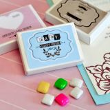 Vintage Design Personalized Baby Shower Gum Boxes