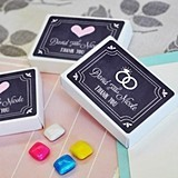 Chalkboard Wedding Personalized Gum Boxes