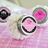 Adorable Quinceanera/Sweet 16 Personalized Candy Jars