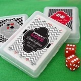 A Great Bet Vegas-Themed Playing Card Cases with Personalized Stickers