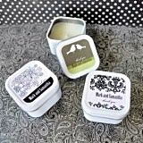 Artistic Design Personalized Square Candle Tins