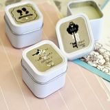 Shabby Chic Personalized Square Candle Tins