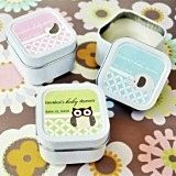 Darling Baby Animals Personalized Square Candle Tins