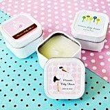Artistic Design Personalized Baby Shower Square Candle Tins