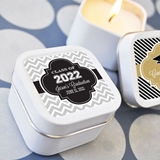 Clever Hats off to You Personalized Graduation Square Candle Tins