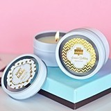 Personalized Metallic Foil Birthday Round Candle Tins
