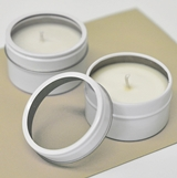 Event Blossom DIY Blank Round Candle Tins with Clear Acrylic Lid