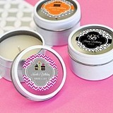 Personalized Birthday Round Candle Tins