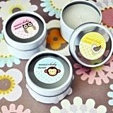 Darling Baby Animals Personalized Round Travel-Sized Candle Tins