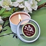 Superb Cherry Blossom Personalized Round Travel-Sized Candle Tins