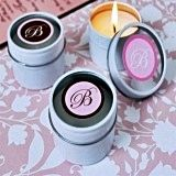Elegant Monogram Travel-Sized Candle Tins