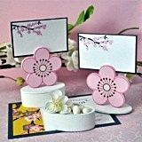 Chic Cherry Blossom-Shaped Placecard Favor Boxes (Set of 12)