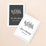 Event Blossom Personalized Floral Silhouette Design Seed Packets
