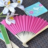 Event Blossom Vibrantly-Colored Paper Fans (19 Colors)