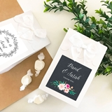 Personalized Goody Bags with Floral Garden Designs (Set of 12)
