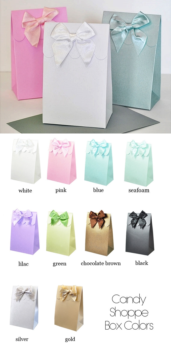 Event Blossom DIY Sweet Shoppe Candy Boxes/Goody Bags (Set of 12)