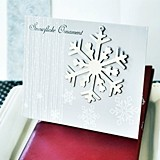 Silver Snowflake Ornament/Placecard