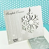Personalized Silver Snowflake Ornament/Placecard