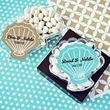 Personalized Seashell-Shaped Clear Favor Boxes