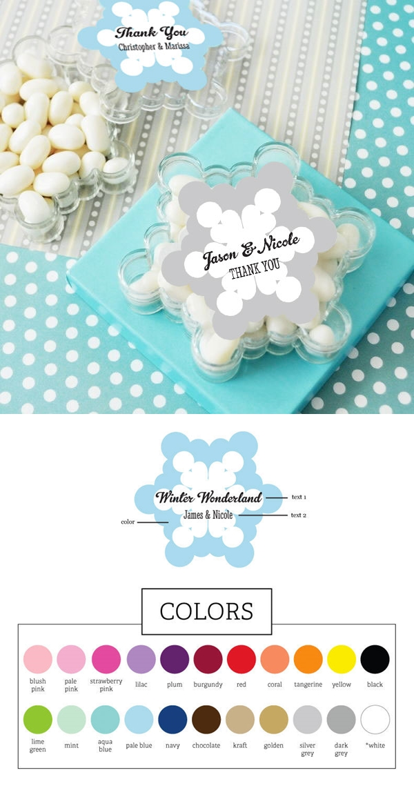A Beautiful Winter Snowflake-Shaped Personalized Clear Favor Boxes